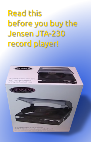 Jensen JTA-230 Turntable Review