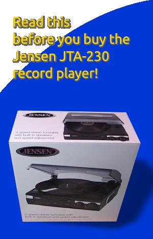 Jensen JTA-230 Turntable Review