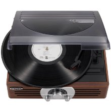 Jensen JTA-222 with vinyl record sticking out