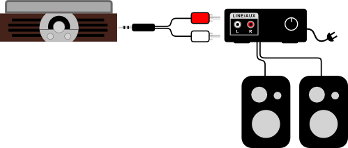 jta 222 connected to a receiver