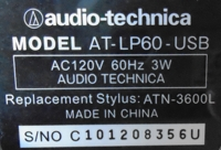 label model serial and power